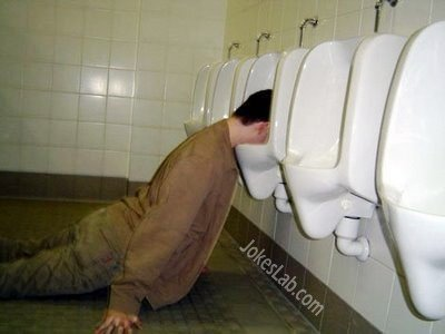 Sleep in the urinal