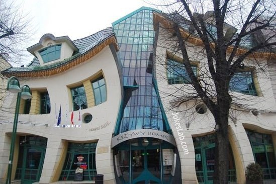 Funny distored building