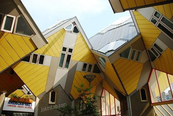 Funny house design, illusion