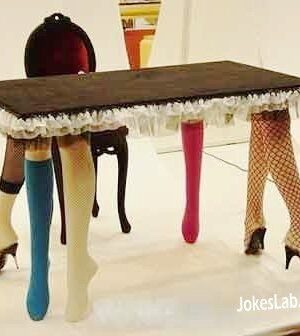 Funny six-sexy-leg table