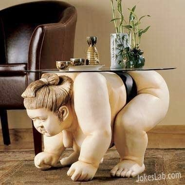 funny japanese Sumo table