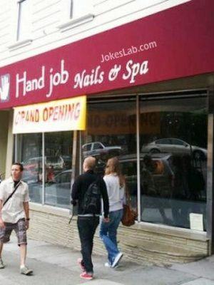 Funny hand job shop
