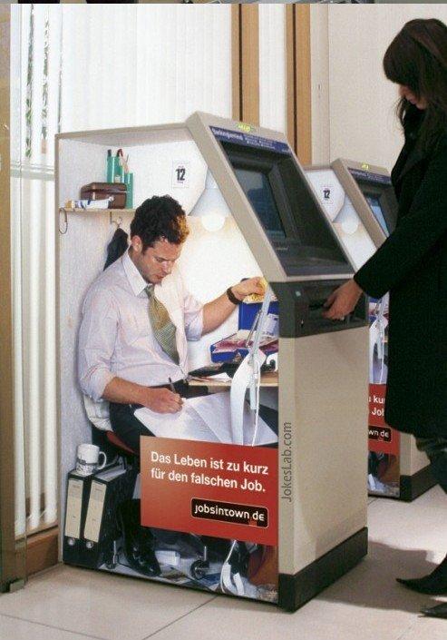 Funny wrong job: ATM operator