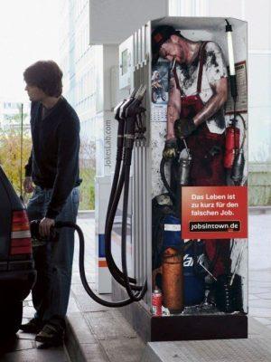 Gas pump operator
