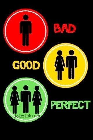 relationship-bad-good-perfect, illustrated