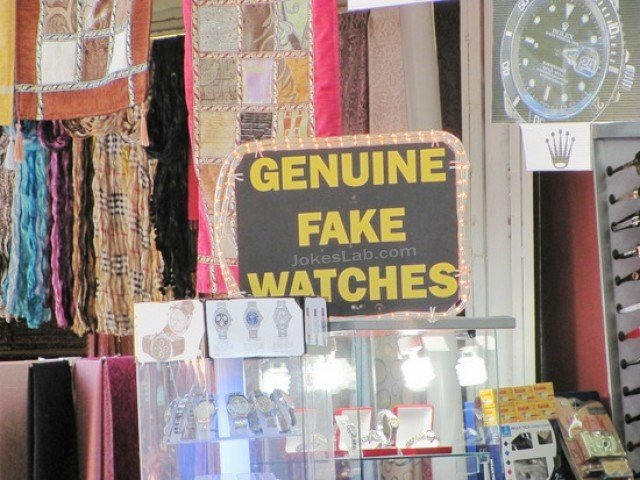 Genuine fake watch