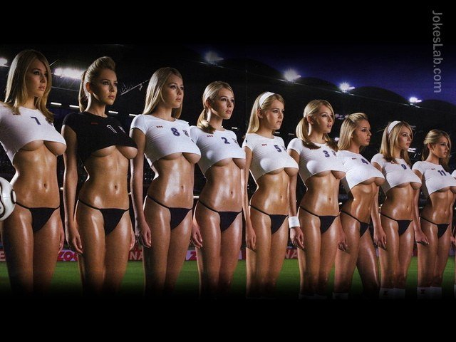 Sexy woman football team