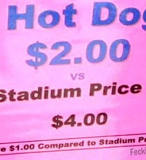 Blonde math for hot dog
