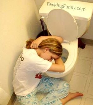 Sexy pose of a drunken girl