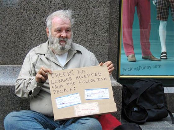 funny-beggars-checks-no-longer-accepted-from-cheaters