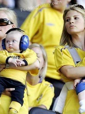 Good parenting, use big headphone and loud music to keep babies sleep