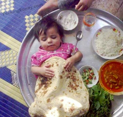 Indian parenting: eat your own prata