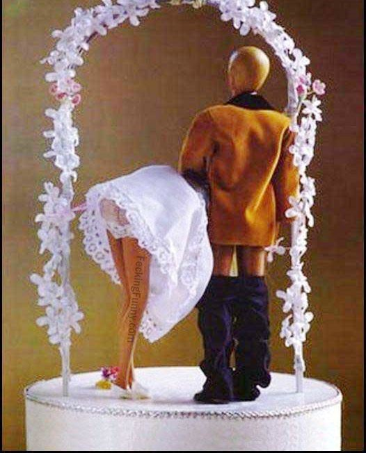 Funny blow job marriage cake