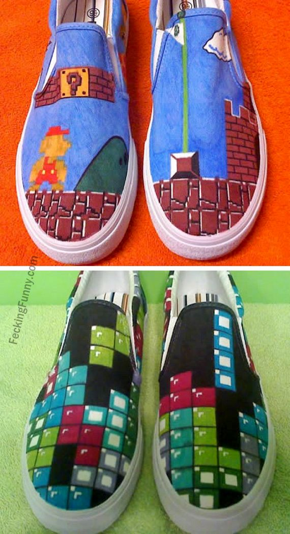 Funny shoes for gamers, especially Zynga fans