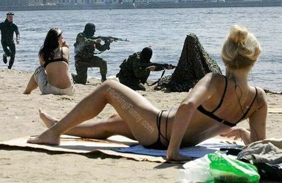 Terrorists in beach