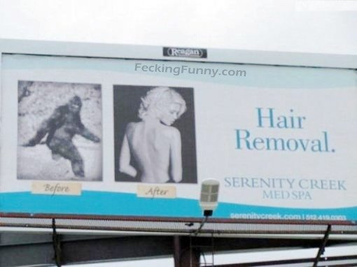 Funny ad: hair removal