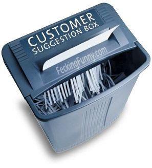 Morden customer suggestion box