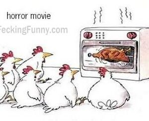 Horror movie for chickens
