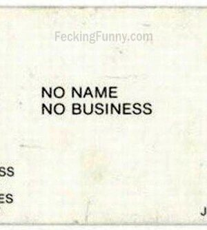 No name namecard, funny