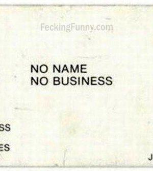 No name namecard, funny