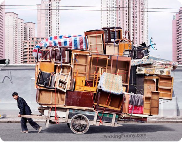overloaded-trolley-with-furniture-in-china