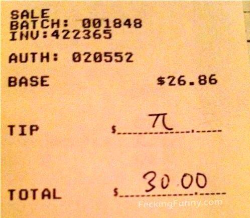 Mathematician's tip