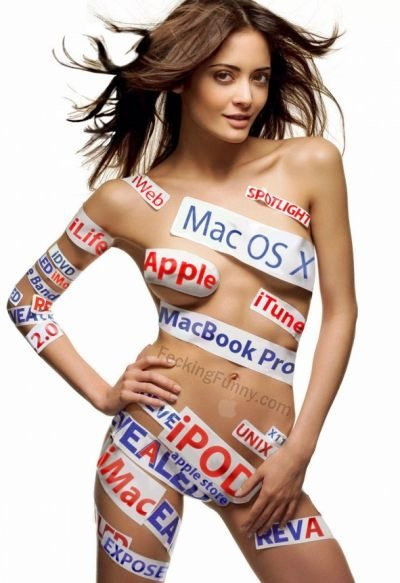Sexy Apple girl, naked!