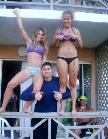 Two bikini girls