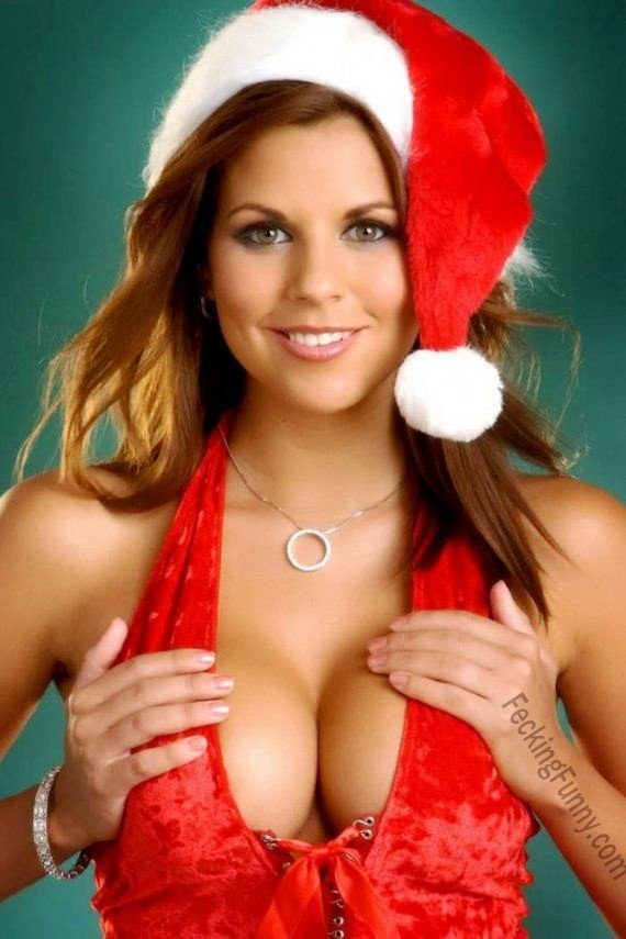 Female Santa with boobs, surely welcomed by guys