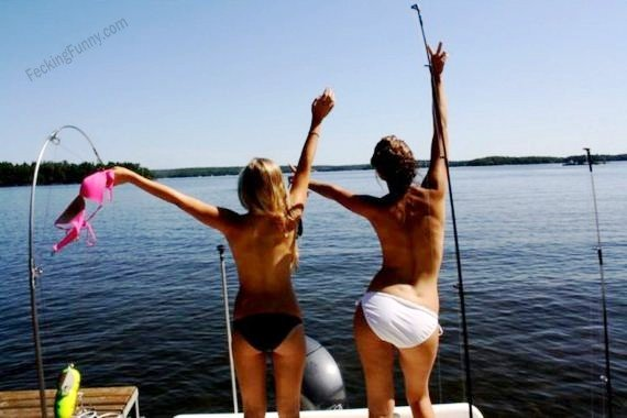 Why girls are good at fishing? The secret weapon is…