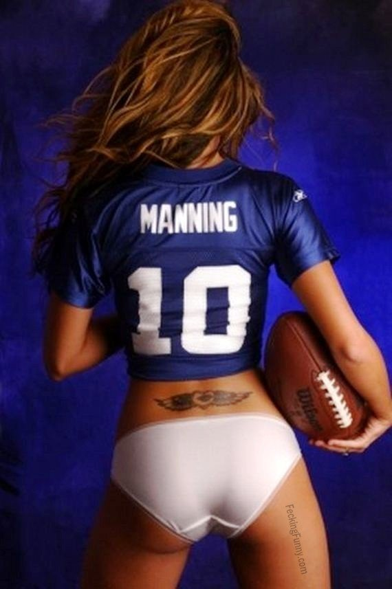 Hot New York Giants football fan