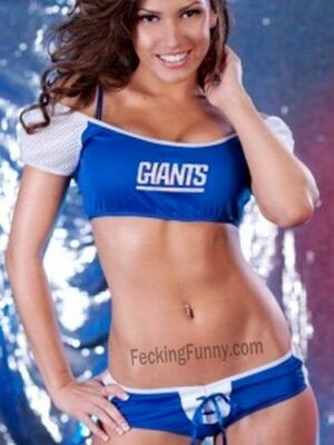 New York Giants football cheerleader, sexy