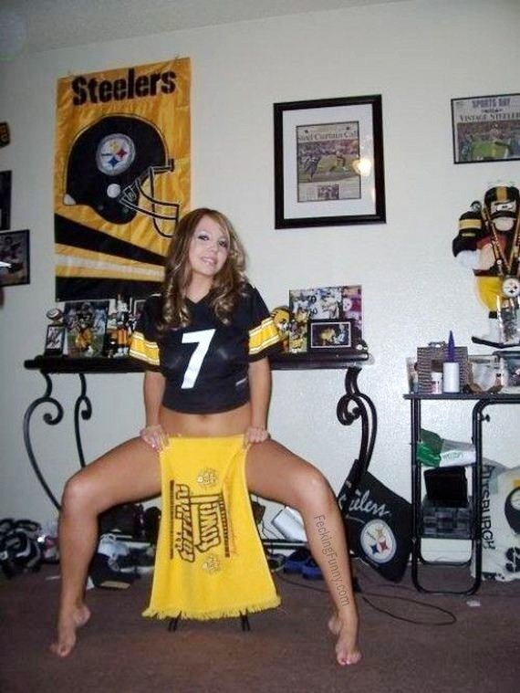 Sexy and crazy Pittsburgh Steelers football fan