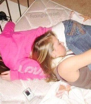 Two drunken girls
