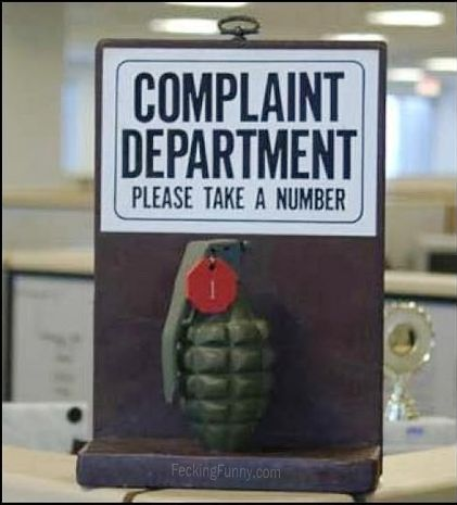This is complaint department