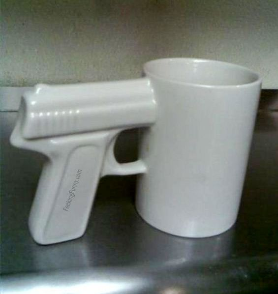 Drink or die, gun mug