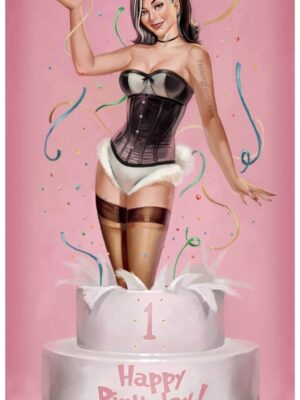 Pin-up girl cake