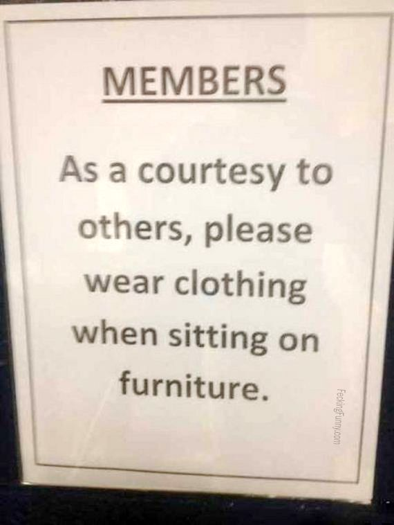 Reminder: please wear clothing