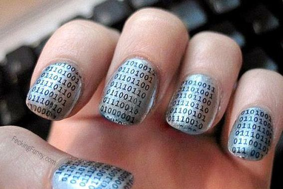 Techy girl's nails