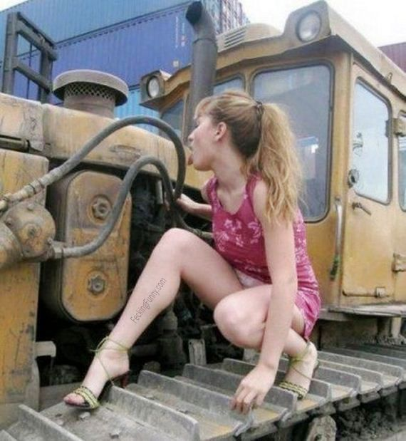 Truck washing woman