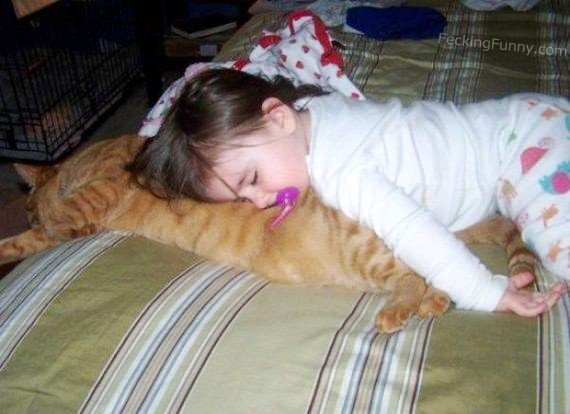 baby-sleeping-with-cat