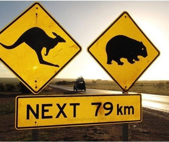 Funny Australian road sign