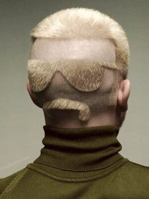 Funny hairdo: sun glasses