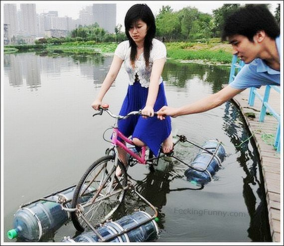 water-bicycles-girl-1