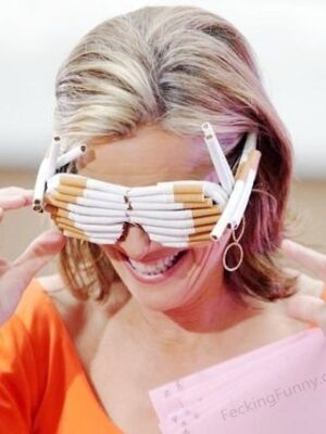 Cigarette sunglasses