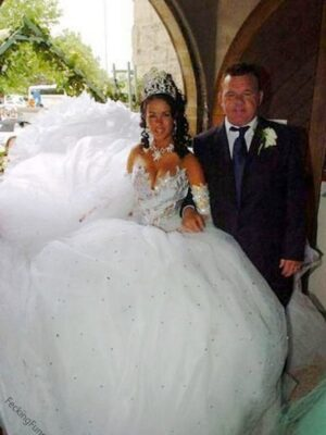 Funny wedding dress