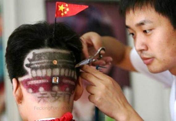 Chinese hairdo