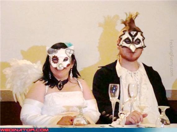 Funny wedding costume