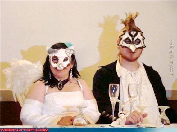 Funny wedding costume