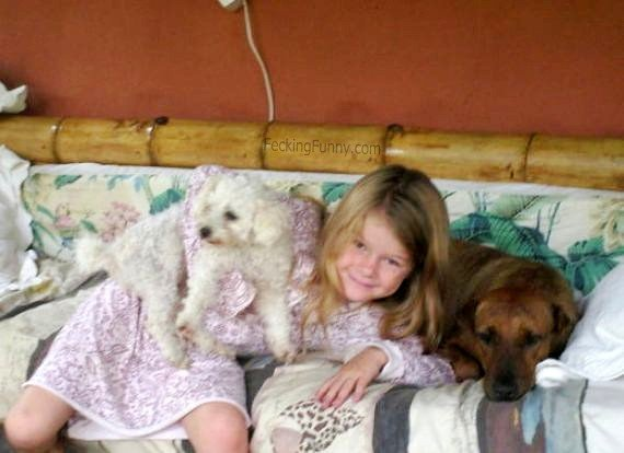 girl-with-two-dogs